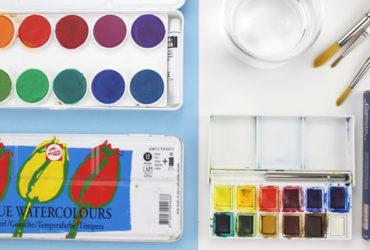 materiales para pintar con acuarela