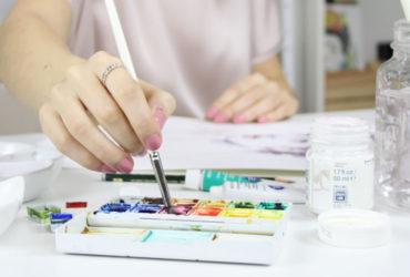 materiales auxiliares para pintar con acuarela